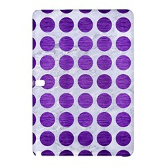 Circles1 White Marble & Purple Brushed Metal (r) Samsung Galaxy Tab Pro 12 2 Hardshell Case