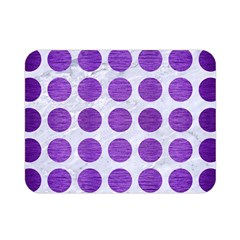 Circles1 White Marble & Purple Brushed Metal (r) Double Sided Flano Blanket (mini)