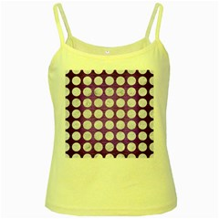 Circles1 White Marble & Purple Brushed Metal Yellow Spaghetti Tank