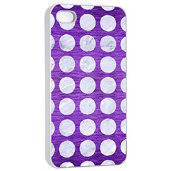 Circles1 White Marble & Purple Brushed Metal Apple Iphone 4/4s Seamless Case (white)
