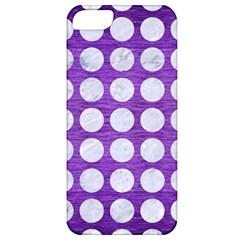 Circles1 White Marble & Purple Brushed Metal Apple Iphone 5 Classic Hardshell Case