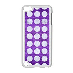 Circles1 White Marble & Purple Brushed Metal Apple Ipod Touch 5 Case (white)
