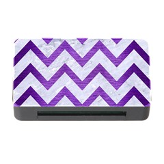 Chevron9 White Marble & Purple Brushed Metal (r) Memory Card Reader With Cf