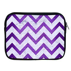 Chevron9 White Marble & Purple Brushed Metal (r) Apple Ipad 2/3/4 Zipper Cases
