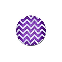 Chevron9 White Marble & Purple Brushed Metal Golf Ball Marker (4 Pack)