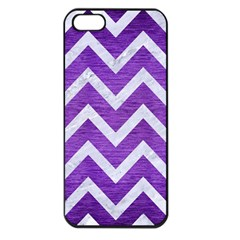 Chevron9 White Marble & Purple Brushed Metal Apple Iphone 5 Seamless Case (black)