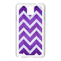 Chevron9 White Marble & Purple Brushed Metal Samsung Galaxy Note 3 N9005 Case (white)