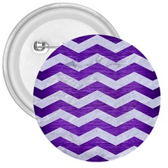 Chevron3 White Marble & Purple Brushed Metal 3  Buttons