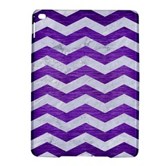 Chevron3 White Marble & Purple Brushed Metal Ipad Air 2 Hardshell Cases by trendistuff