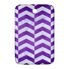 Chevron2 White Marble & Purple Brushed Metal Samsung Galaxy Note 8 0 N5100 Hardshell Case