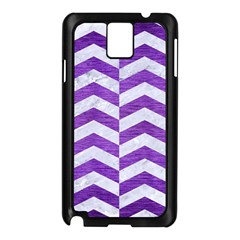 Chevron2 White Marble & Purple Brushed Metal Samsung Galaxy Note 3 N9005 Case (black)