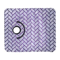 Brick2 White Marble & Purple Brushed Metal (r) Galaxy S3 (flip/folio)