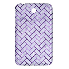 Brick2 White Marble & Purple Brushed Metal (r) Samsung Galaxy Tab 3 (7 ) P3200 Hardshell Case