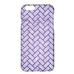 Brick2 White Marble & Purple Brushed Metal (r) Apple Iphone 6 Plus/6s Plus Hardshell Case