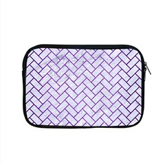 Brick2 White Marble & Purple Brushed Metal (r) Apple Macbook Pro 15  Zipper Case by trendistuff