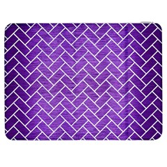 Brick2 White Marble & Purple Brushed Metal Samsung Galaxy Tab 7  P1000 Flip Case