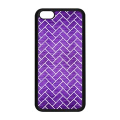 Brick2 White Marble & Purple Brushed Metal Apple Iphone 5c Seamless Case (black)