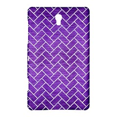 Brick2 White Marble & Purple Brushed Metal Samsung Galaxy Tab S (8 4 ) Hardshell Case