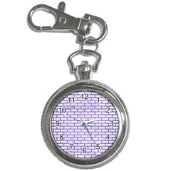 Brick1 White Marble & Purple Brushed Metal (r) Key Chain Watches
