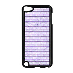Brick1 White Marble & Purple Brushed Metal (r) Apple Ipod Touch 5 Case (black)