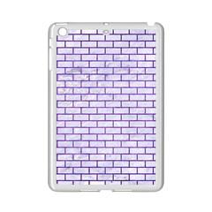 Brick1 White Marble & Purple Brushed Metal (r) Ipad Mini 2 Enamel Coated Cases