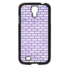 Brick1 White Marble & Purple Brushed Metal (r) Samsung Galaxy S4 I9500/ I9505 Case (black)