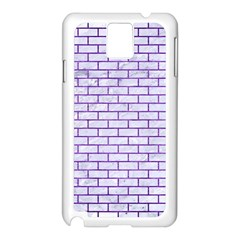 Brick1 White Marble & Purple Brushed Metal (r) Samsung Galaxy Note 3 N9005 Case (white)
