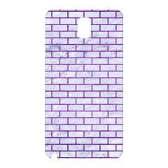 Brick1 White Marble & Purple Brushed Metal (r) Samsung Galaxy Note 3 N9005 Hardshell Back Case