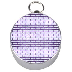Brick1 White Marble & Purple Brushed Metal (r) Silver Compasses