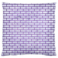 Brick1 White Marble & Purple Brushed Metal (r) Standard Flano Cushion Case (two Sides)