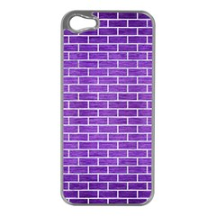Brick1 White Marble & Purple Brushed Metal Apple Iphone 5 Case (silver)