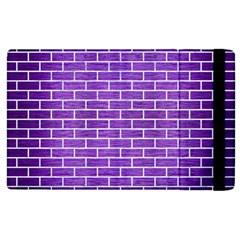 Brick1 White Marble & Purple Brushed Metal Apple Ipad 3/4 Flip Case