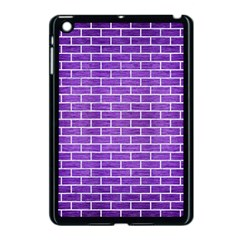 Brick1 White Marble & Purple Brushed Metal Apple Ipad Mini Case (black)