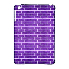 Brick1 White Marble & Purple Brushed Metal Apple Ipad Mini Hardshell Case (compatible With Smart Cover)