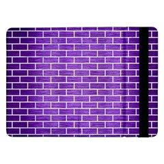 Brick1 White Marble & Purple Brushed Metal Samsung Galaxy Tab Pro 12 2  Flip Case