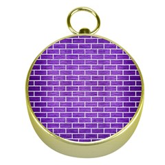 Brick1 White Marble & Purple Brushed Metal Gold Compasses