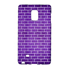 Brick1 White Marble & Purple Brushed Metal Galaxy Note Edge by trendistuff