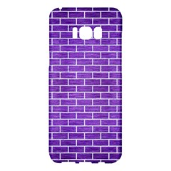 Brick1 White Marble & Purple Brushed Metal Samsung Galaxy S8 Plus Hardshell Case