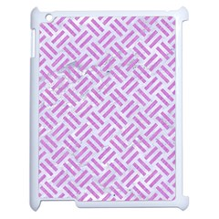 Woven2 White Marble & Purple Colored Pencil (r) Apple Ipad 2 Case (white)