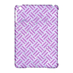 Woven2 White Marble & Purple Colored Pencil (r) Apple Ipad Mini Hardshell Case (compatible With Smart Cover)
