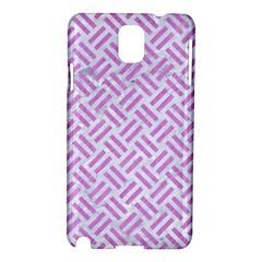 Woven2 White Marble & Purple Colored Pencil (r) Samsung Galaxy Note 3 N9005 Hardshell Case