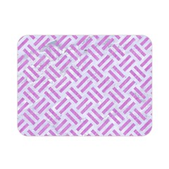 Woven2 White Marble & Purple Colored Pencil (r) Double Sided Flano Blanket (mini)