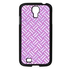 Woven2 White Marble & Purple Colored Pencil Samsung Galaxy S4 I9500/ I9505 Case (black)
