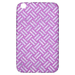 Woven2 White Marble & Purple Colored Pencil Samsung Galaxy Tab 3 (8 ) T3100 Hardshell Case