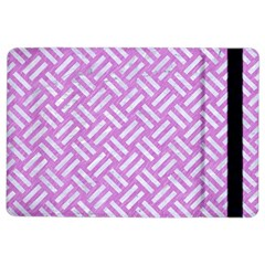 Woven2 White Marble & Purple Colored Pencil Ipad Air 2 Flip