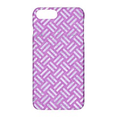 Woven2 White Marble & Purple Colored Pencil Apple Iphone 8 Plus Hardshell Case