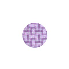 Woven1 White Marble & Purple Colored Pencil (r) 1  Mini Buttons