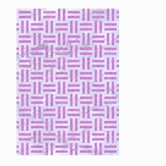 Woven1 White Marble & Purple Colored Pencil (r) Large Garden Flag (two Sides)