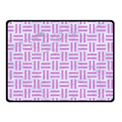 Woven1 White Marble & Purple Colored Pencil (r) Double Sided Fleece Blanket (small)