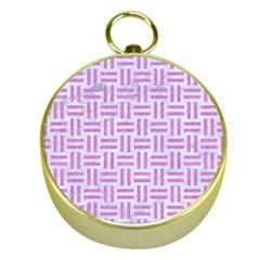 Woven1 White Marble & Purple Colored Pencil (r) Gold Compasses